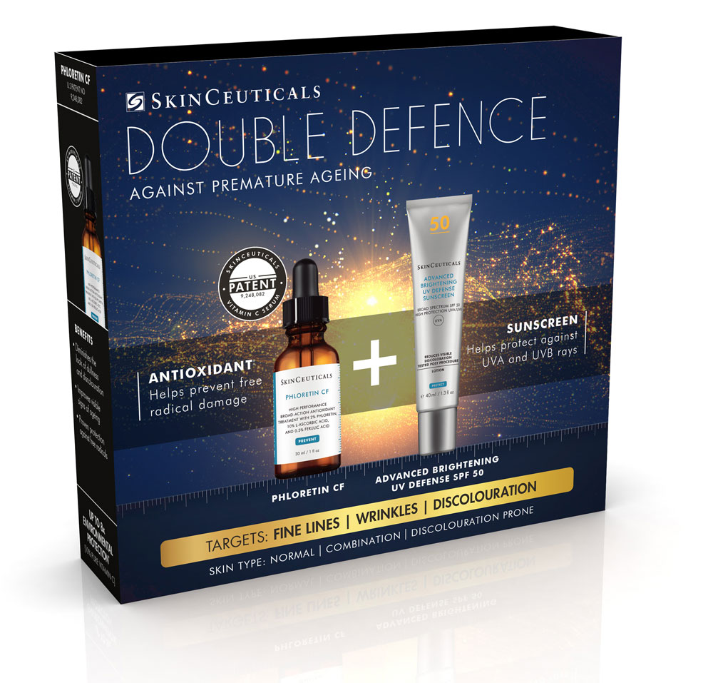 Double Defence Phloretin CF Kit for Combination and Discolouration-Prone Skin